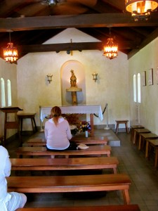 Interior of Our Lady of Le Leche Shrine
