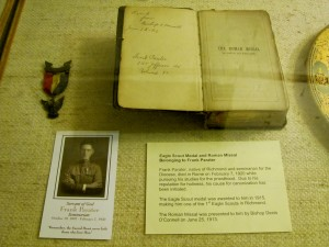 Frank Parater's Bible & Eagle Scout Medal