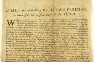 Virginia Act for establishing Religious Freedom 1786