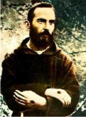 Padre Pio with stigmata