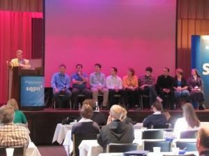 Sean Patrick Lovett leading panel discussion