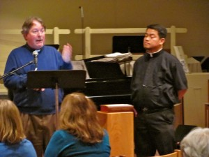 Deacon Chris Morash & Father Rolo Castillo teaching about New Missal