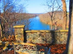 Shenandoah River view behind campus