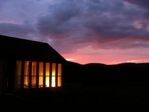 Sunrise at Eucharistic Chapel in Retreat Center