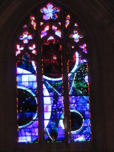 Stained Glass with Moon Rock inside from Apollo Mission