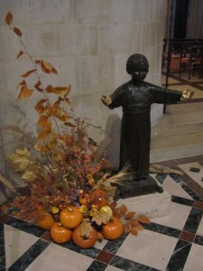 Child Jesus outside Children's Chapel