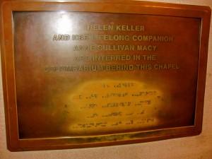 Helen Keller Plaque