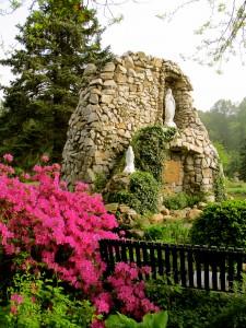 Lourdes Grotto on St. Anthony Shrine grounds