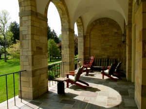 Many places for prayer, reading, or contemplation