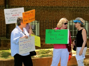 Protestors of the Stand Up for Religious Freedom Rally