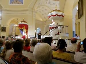 Archbishop Lori offering an inspiring homily