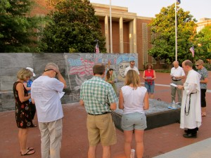 Prayer Service at 1st Amendment Monument
