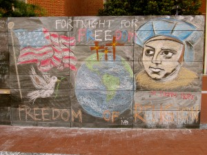Religious Liberty Mural on 1st Amendment Monument