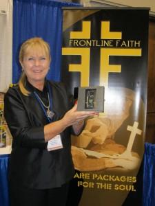Cheri Lamonte with Frontline Faith MP3 Player