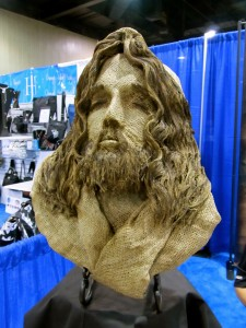 Sculpture made of sackcloth and ash