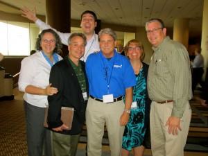 Maria Johnson, Dr. Paul Camarata, Capt. Jeff Nielsen, Pat Gohn, Steve Nelson, and Pat Padley (back)