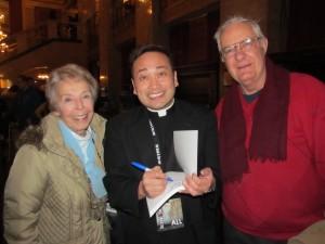 Fr. Leo with Dave & Ellie Clem