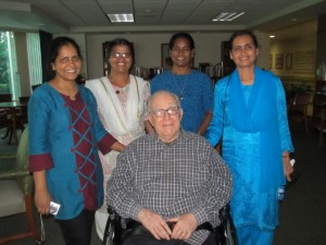 Fr. George Pope and Holy Cross Sisters from Bangladesh