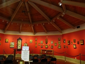 Russian icon exhibit at St. Anne Shrine