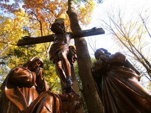 Stations of the Cross done in large bronze castings.