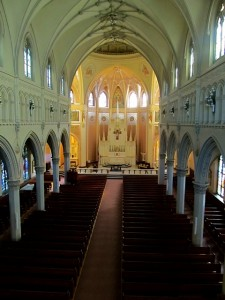 Interior of Shrine of St. Anne for mothers