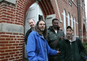 Director Tom Shadyac visiting his friends at The Haven