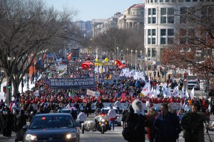 March for Life 2014 up Capitol Hill
