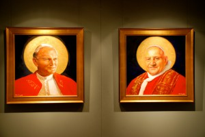 New Portraits of Saints John Paul II & John XXIII at the Basilica of the National Shrine of the Immaculate Conception