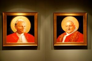 New Portraits of Saints John Paul II & John XXIII at the Basilica of the National Shrine of the Immaculate Conception