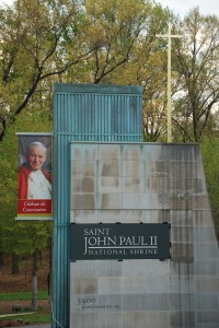 Sign for Saint John Paul II National Shrine
