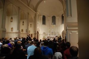 Adoration of Blessed Sacrament at Catholic University Chapel
