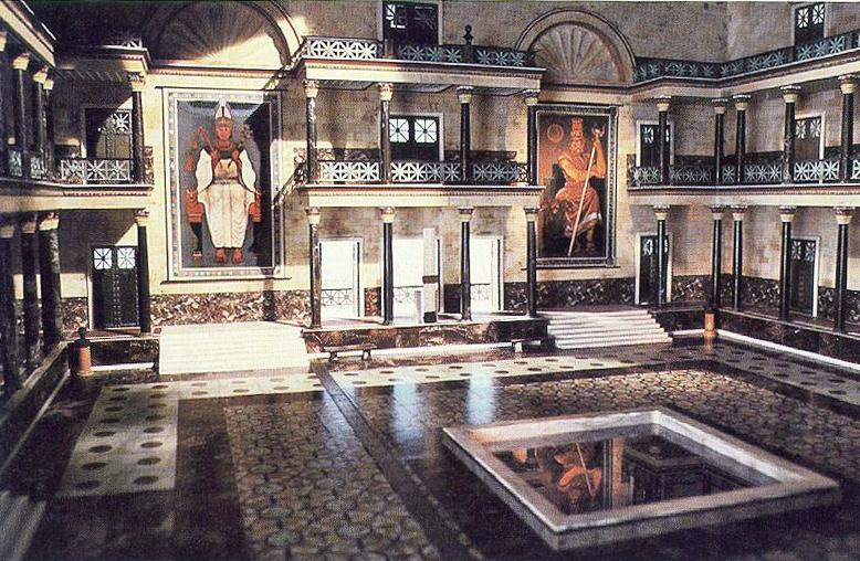 Reconstruction of the Great Hall of the Library of Alexandria from Cosmos series with Carl Sagan