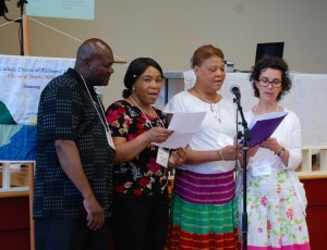 Prayers sung in Haitian Creole before luncheon.