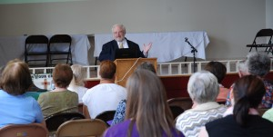 John Carr offering keynote speech to Parish Social Ministry conference