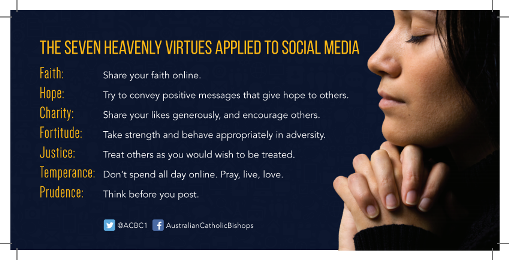The Seven Heavenly Virtues Applied to Social Media