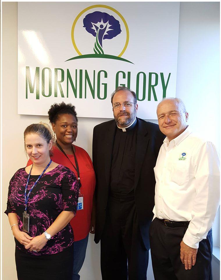 Morning Glory Crew: Alyssa Murphy, Gloria Purvis, Msgr Charles Pope, and Brain Patrick