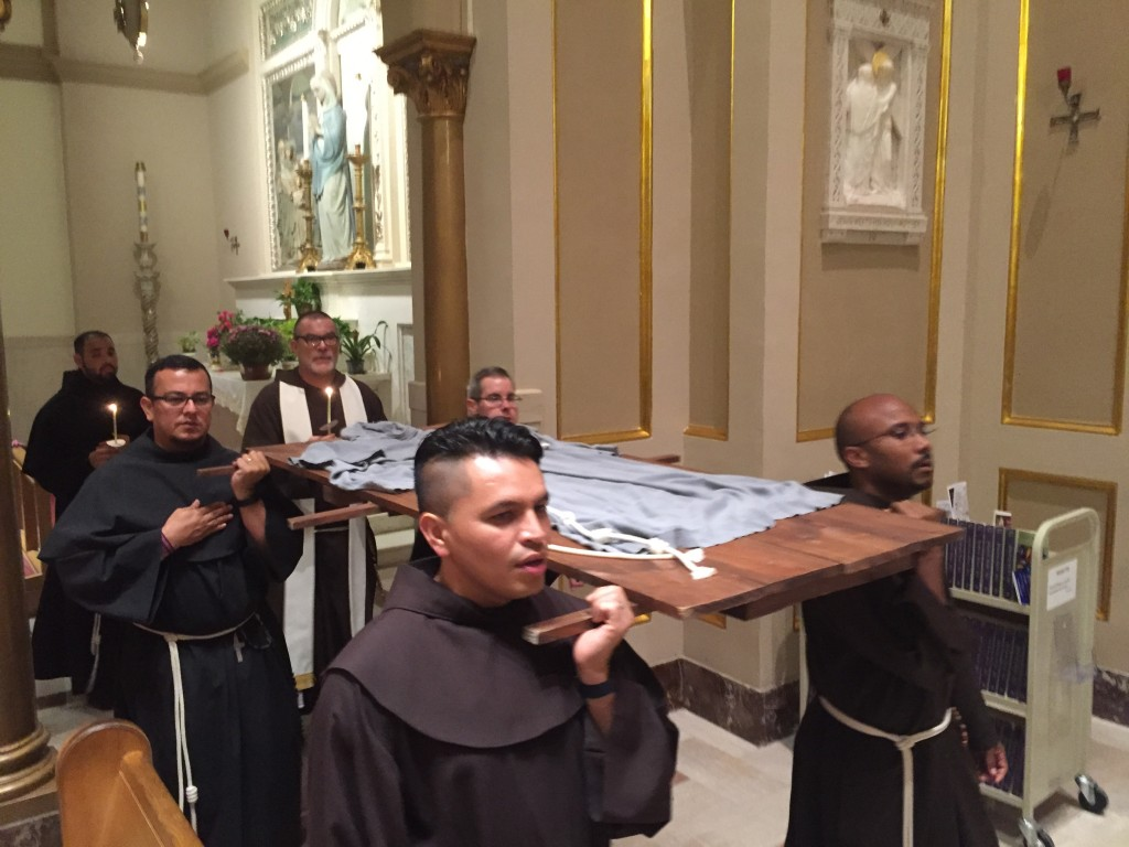 Transitus of St. Francis of Assisi at the Franciscan Monastery of the Holy Land in Washington DC