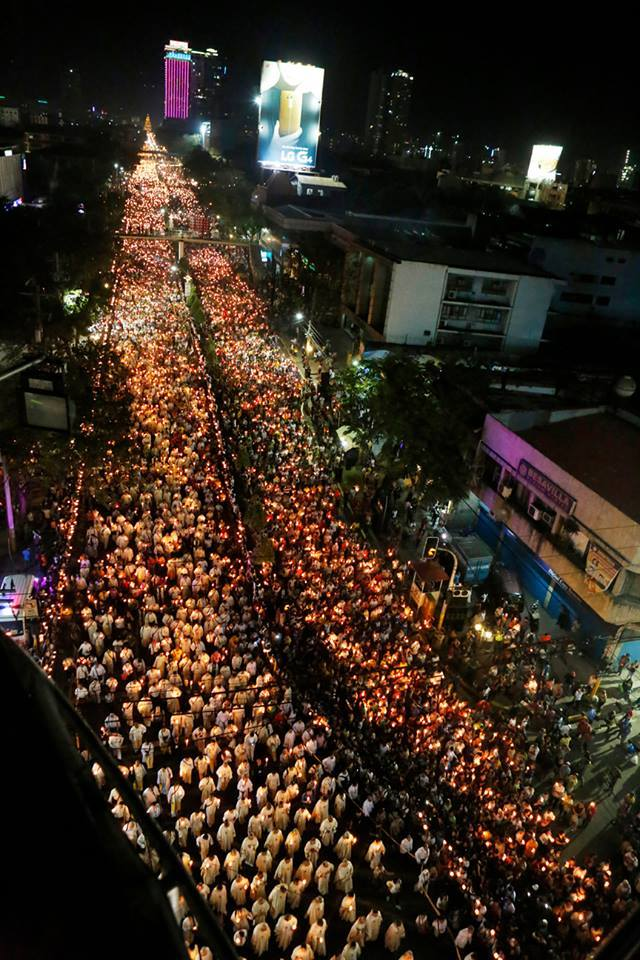 Estimates of 1.5 to 2 million people participating in the Eucharistic Procession in the Philippines for the International Eucharistic Congress. Photo courtesy: Fr. Jun Rebayla, SVD