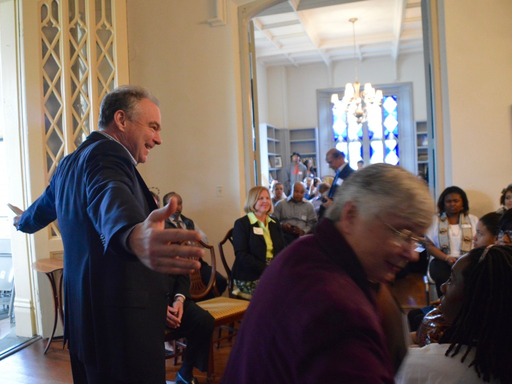 Virginia Senator Tim Kaine is a big supporter of the Sisters of the Blessed Sacrament and in their mission of the FrancisEmma property of preserving natural and historic site for education, eco-justice, and peace.