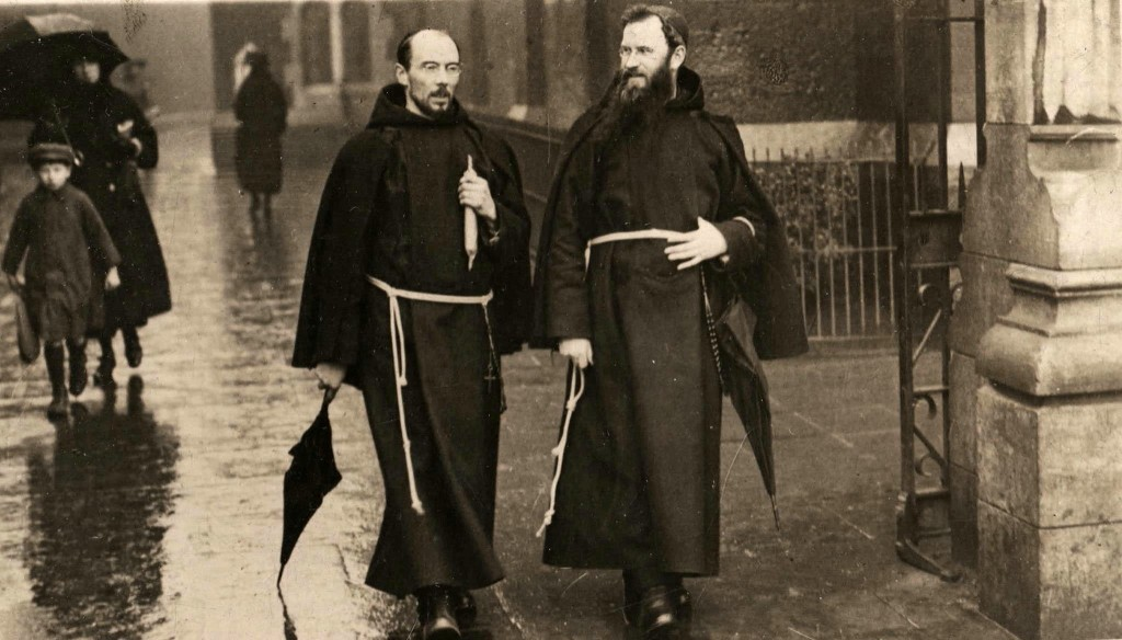 Fr. Dominic O'Connor OFM Cap. right and Fr. Albert Bibby OFM Cap. on Church Street Dublin 1921