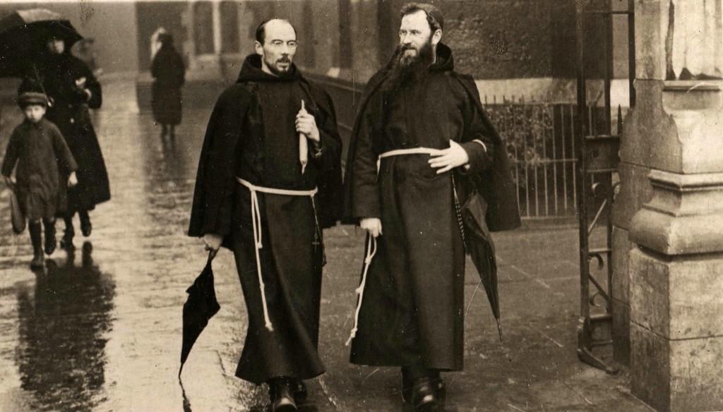 Fr. Dominic O'Connor OFM Cap. right and Fr. Albert Bibby OFM Cap. on Church Street Dublin 1921