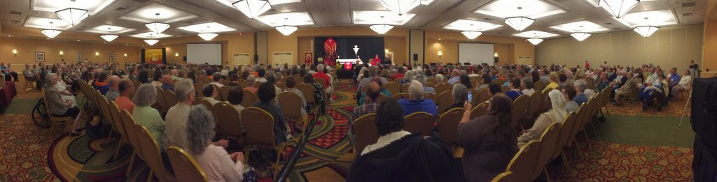 600+ brothers and sisters of the Secular Franciscan Order met in St. Louis for the Quinquennial Congress (5-year gathering)