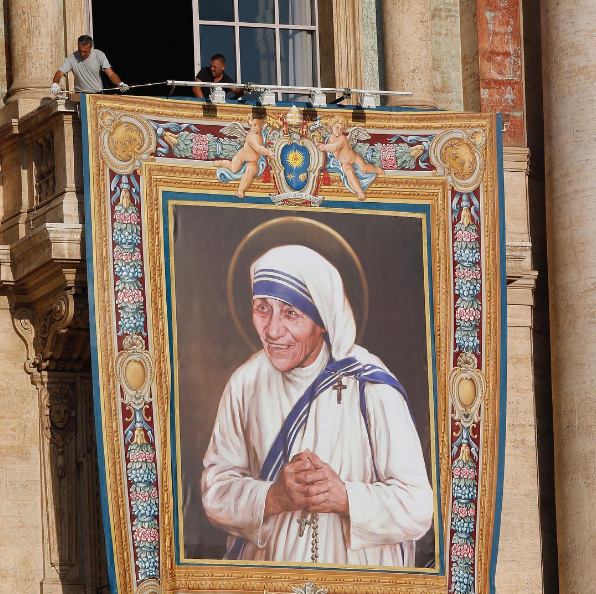 Preperations at the Vatican to celebrate the Canonization of Mother Teresa
