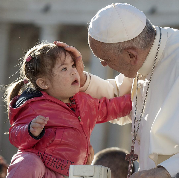 """Children — in their interior simplicity — bring with them the capacity to receive and give tenderness.""(Pope Francis on Instagram, November 10, 2016)"
