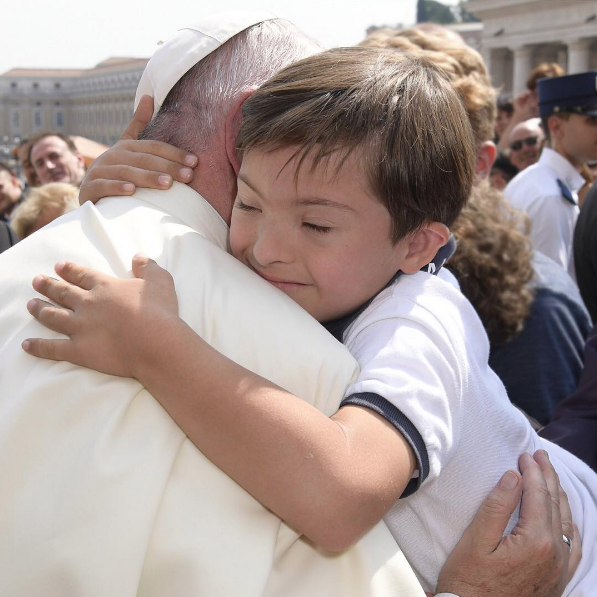 """How much the world needs tenderness today!"" (Pope Francis on Instagram)"
